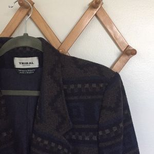 VINTAGE TRIBAL Sportswear Wool Blend Jacket Coat